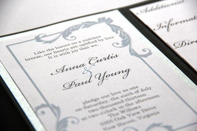 Formal Wedding Invitation - Pocketfold Invitation Suite - Classy Elegant Wedding