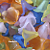 50 pcs of Small Mixed Color Acrylic Flower Beads