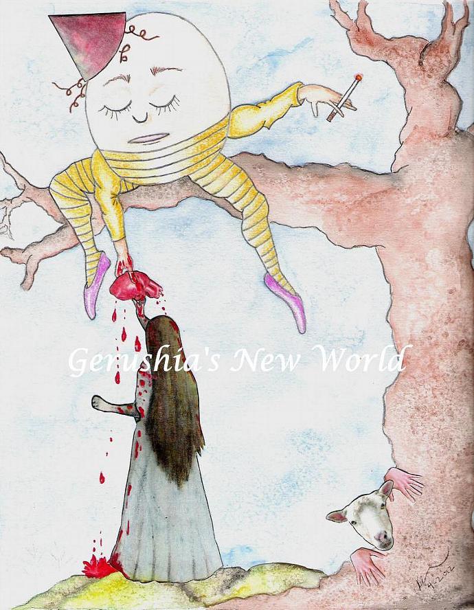 Mi Corazón por Alicia - Mixed Media Salted Watercolor Print