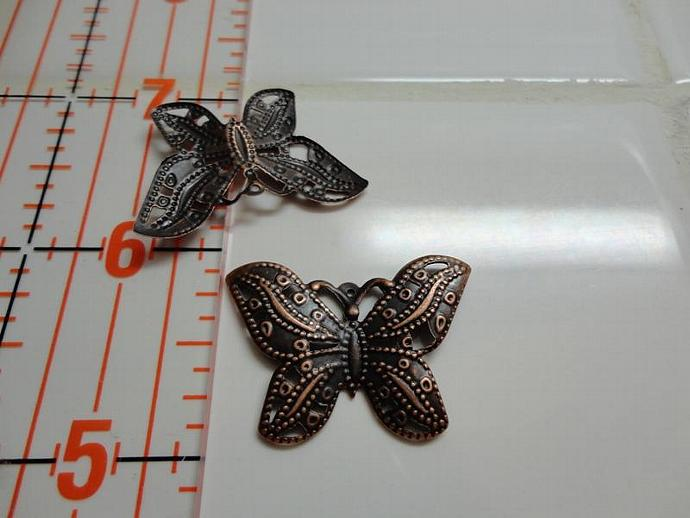 Butterfly Filigree Copper #004