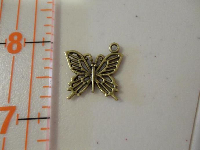 Butterfly Charm - Bronze #001