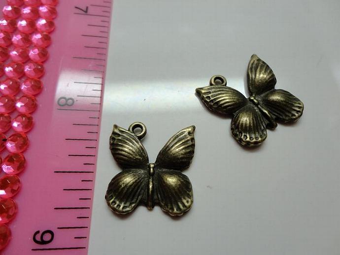 Butterfly Charm - Bronze #003