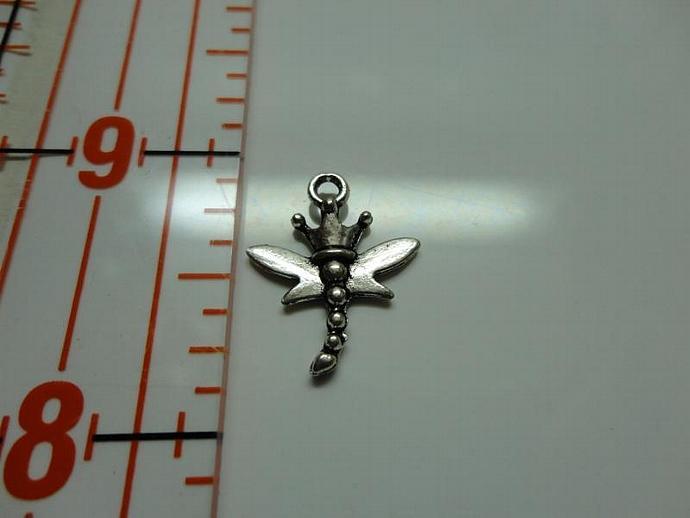 Dragonfly Charm - Silver #002