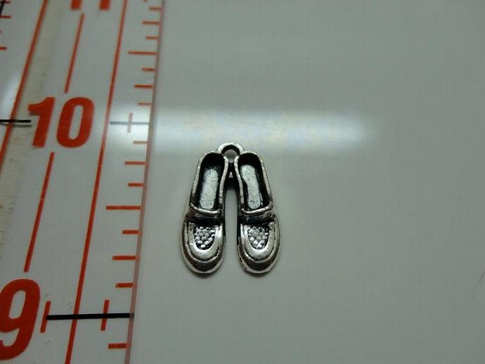 Loafer Slipper Shoes Charm - Silver