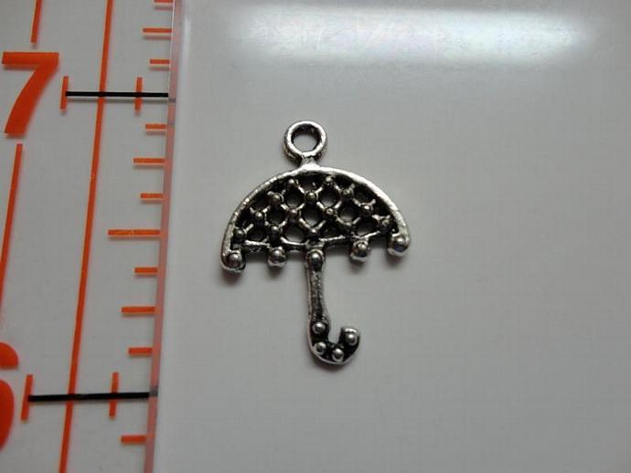 Umbrella Charm - Silver #003