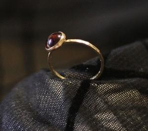 Valentines Day and January Birthstone 14k Gold Filled Garnet Stackable Ring SAY