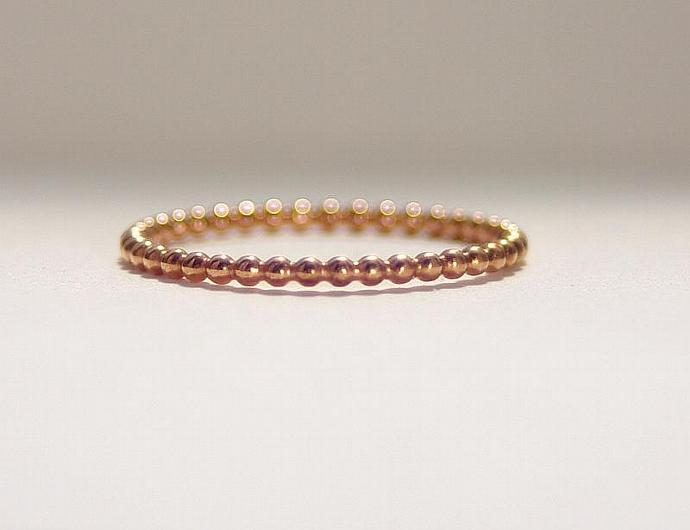 Stacking Rings 14k ROSE Gold Filled - Red Gold Filled Stacking Ring - Stacking