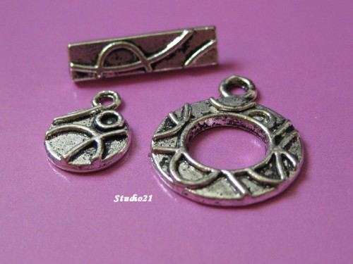 Combo #6 set Antique Silver Finish 3-Piece Toggle