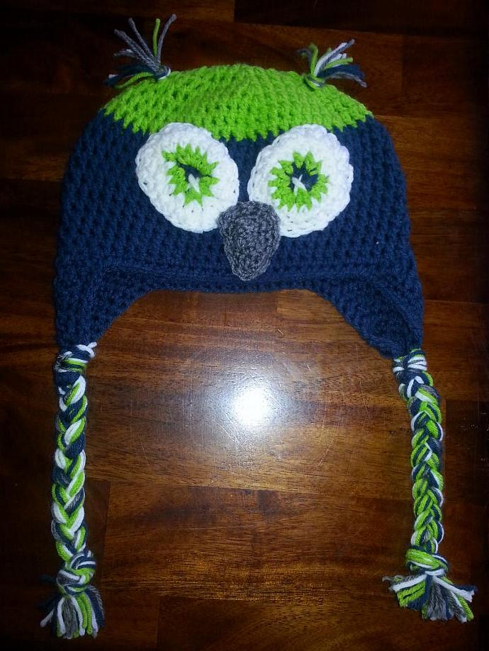 Seattle Seahawks Bird Hat Child Youth Size Melaniecalcut