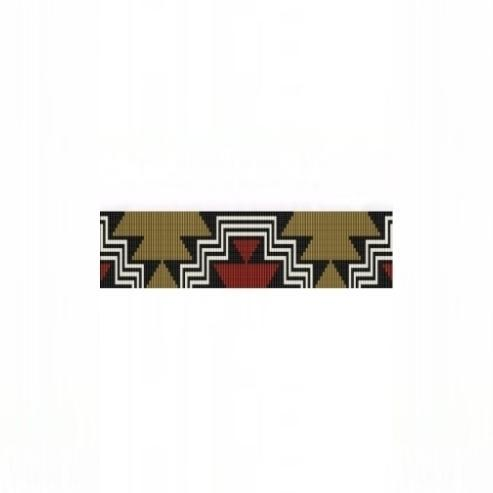 Loom Bead Pattern for Aztec Steps Cuff Bracelet
