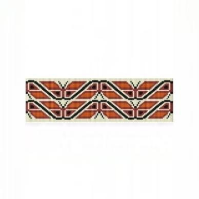 Loom Bead Pattern for Native American Butterflies Cuff Bracelet