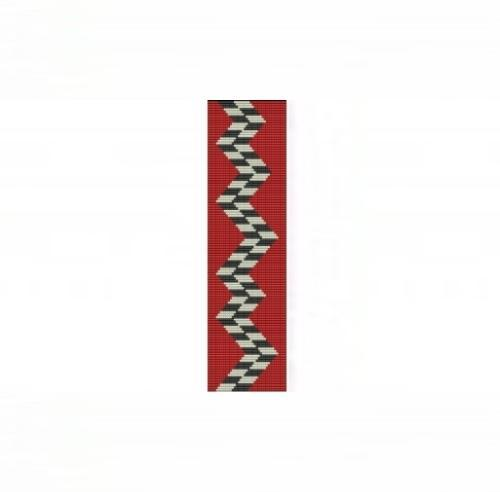 Loom Bead Pattern for Abstract #2 Cuff Bracelet