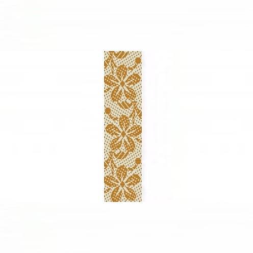 Loom Bead Pattern for Hawaiian Print Gold Bracelet