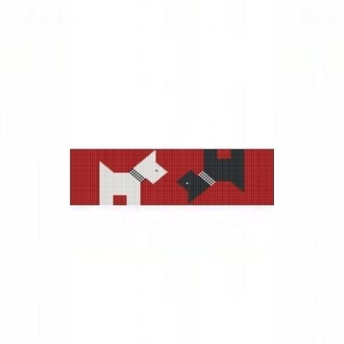 Loom Bead Pattern for Scotties Cuff Bracelet