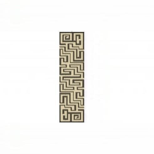 1 Drop Even Peyote Bead Pattern - Aztec Maze Cuff Bracelet