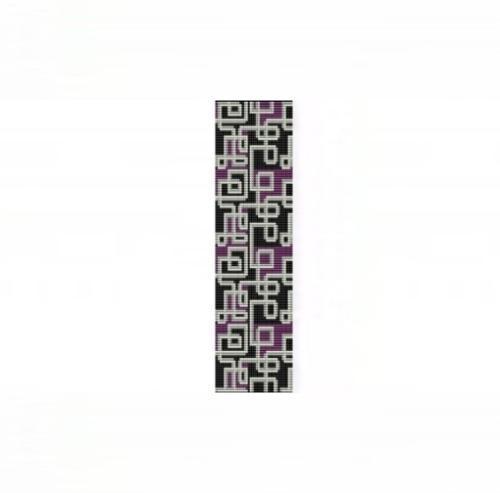 Loom Bead Pattern - Abstract #4 Cuff Bracelet