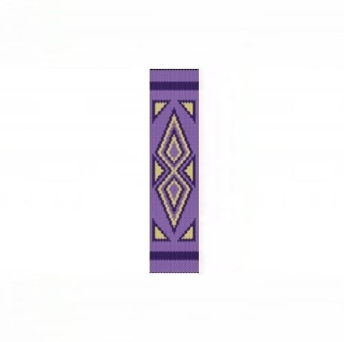 1 Drop Odd Peyote Bead Pattern - Abstract Arrowheads Cuff Bracelet