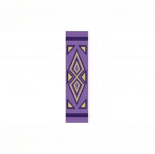 Loom Bead Pattern - Abstract Arrowheads Cuff Bracelet