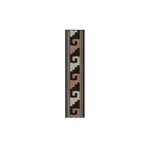 4 Drop Even Peyote Bead Pattern for NA Rug #12 Cuff Bracelet