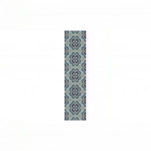 Loom Bead Pattern - Blue Delft Floral Bracelet