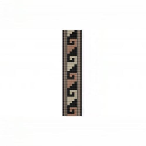Loom Bead Pattern for NA Rug #12 Cuff Bracelet