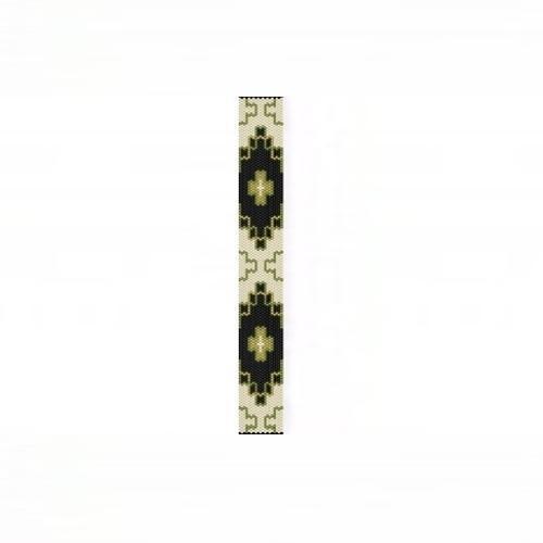 1 Drop Odd Peyote Bead Pattern - NA Celtic #2 Thin Bracelet