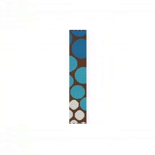 3 Drop Odd Peyote Bead Pattern for Progressive Blue Circles Thin Bracelet