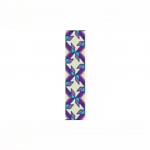 8 Drop Even Peyote Bead Pattern - NA Quilt Blocks Cuff Bracelet