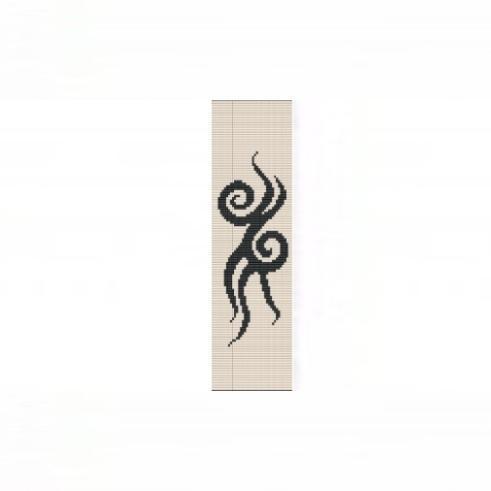 Loom Bead Pattern - Tattoo Cuff Bracelet