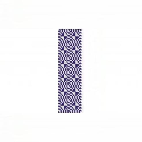 1 Drop Even Peyote Bead Pattern - Optical Eggplant Bracelet