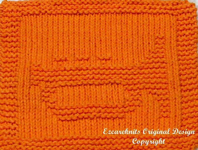 Knitting Cloth Pattern - TRUMPET - PDF