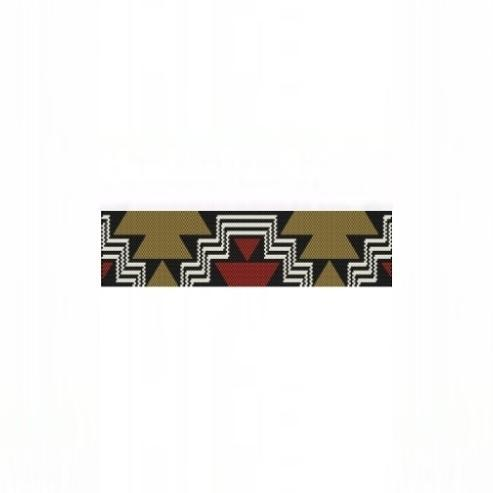1 Drop Even Peyote Bead Pattern for Aztec Steps Cuff Bracelet