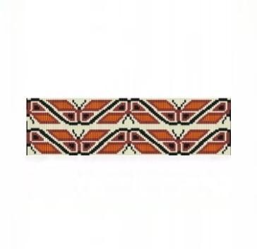 8 Drop Odd Peyote Bead Pattern for NA Butterflies Cuff Bracelet