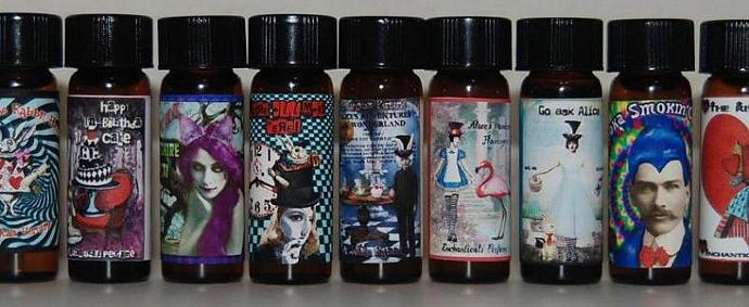 The entire set of 10 Gothic Artisan perfume oils 1/8 fl oz each from the Go Ask
