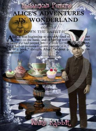 White Rabbit  Gothic Victorian Artisan Perfume Oil from the Go Ask Alice