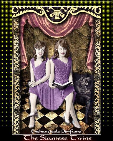 The Siamese Twins Gothic Carnival Perfume Oil  for the KrAzY KaRnIvAl Collection