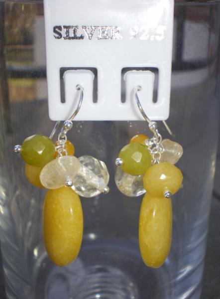 Jade And Citrine Earrings