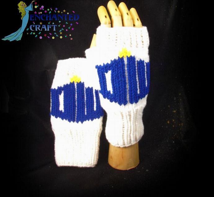 Doctor Who Symbol Fingerless Gloves