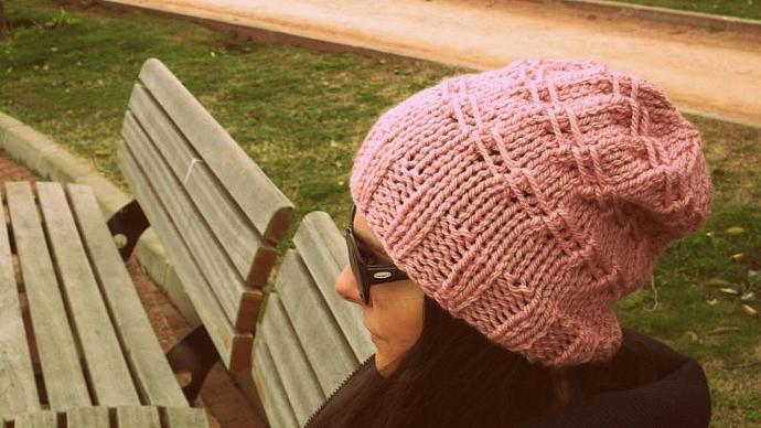 Pink slouchy beanie,Pink scarf,women hat,knitted hat,handmade,winter accessories