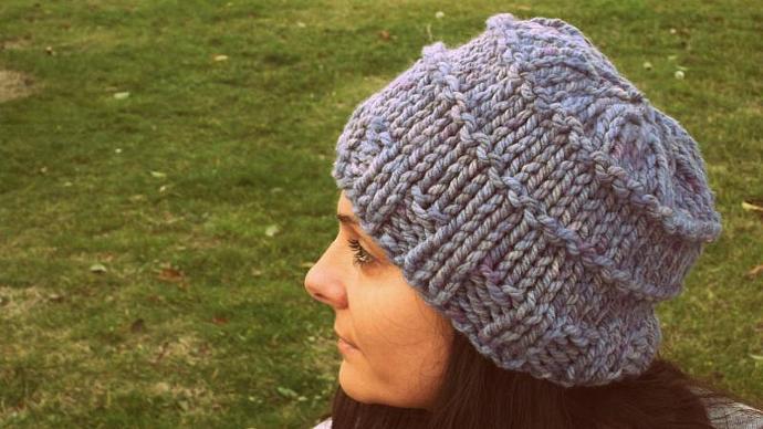 Grey knitted hat,handmade beanie,women hat,men hat,slouchy beanie,winter