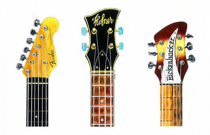 3 Vintage Guitars