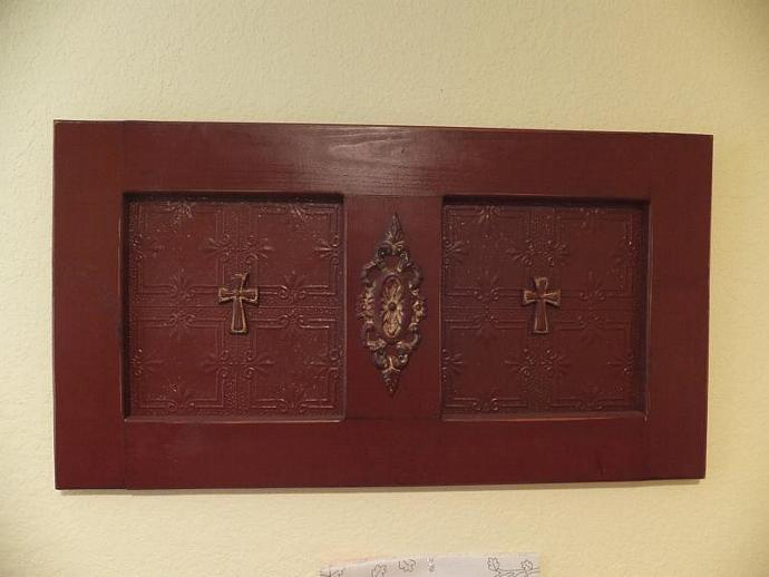 wooden wall cross decor