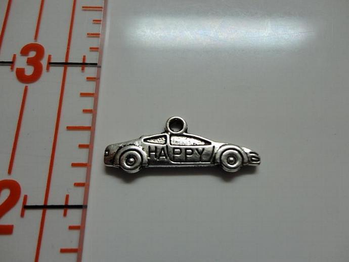Race Car Charm - Silver