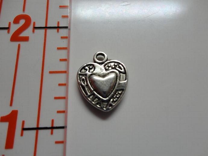Heart Charm - Silver