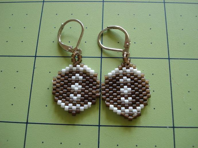 Football Bead Earrings