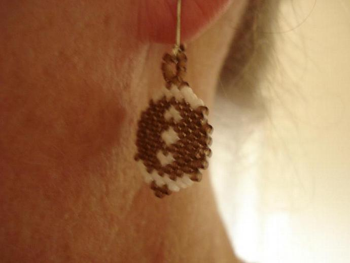 Football Bead Earrings