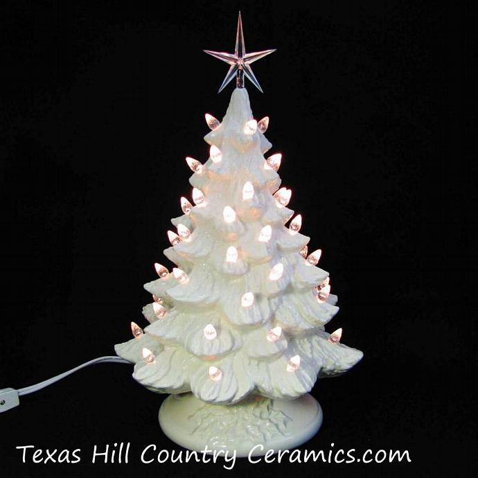 Ceramic Christmas Tree In White 16 Inches By Texasceramics On Zibbet