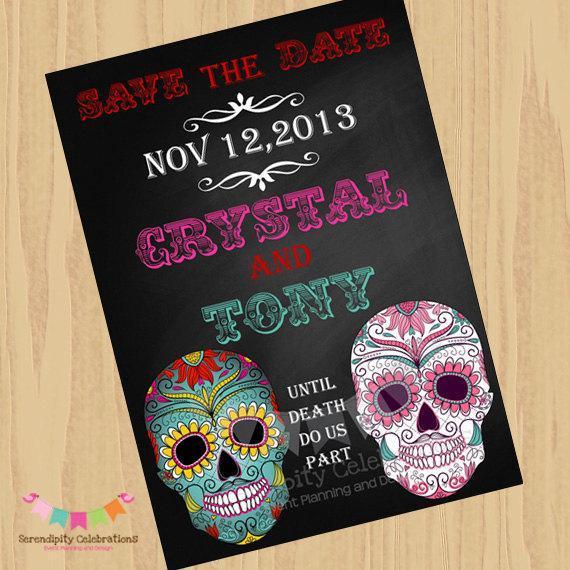 Dia De Los Muertos, DIY Printable Card, Party Invitation, Wedding, Digital  File