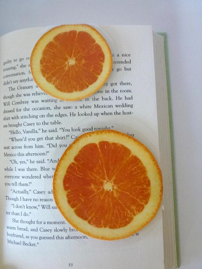 Orange Bookmark Set