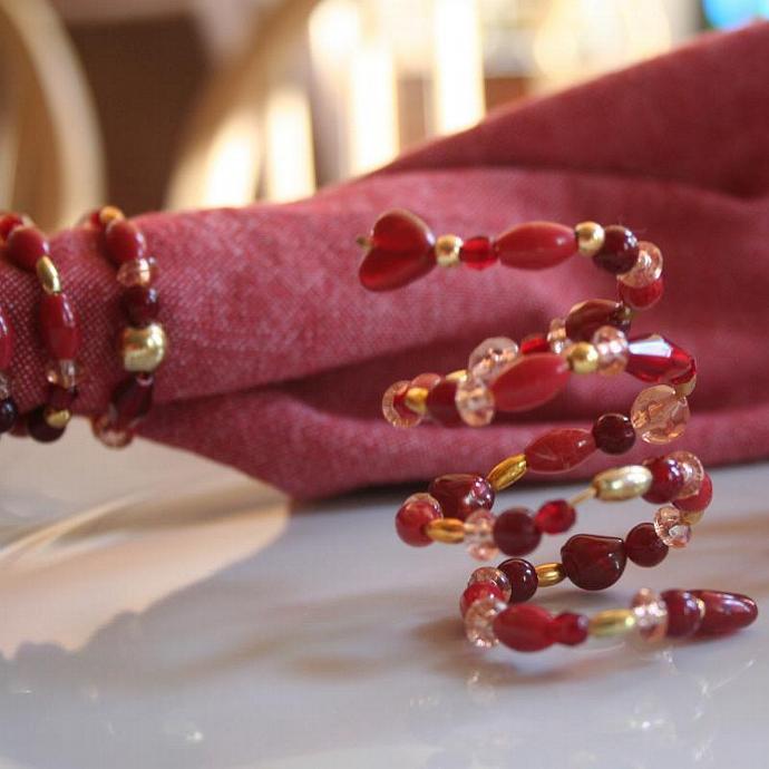 Beaded Napkin Rings (Set of 4)